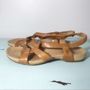 Timberland Tan Strappy Leather Pull-on Sandal 7.5M